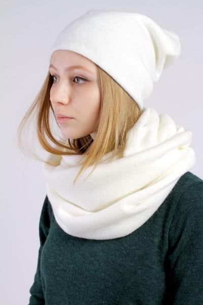 Winter milk beanie hat