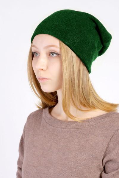 Шапка зеленая, зимняя