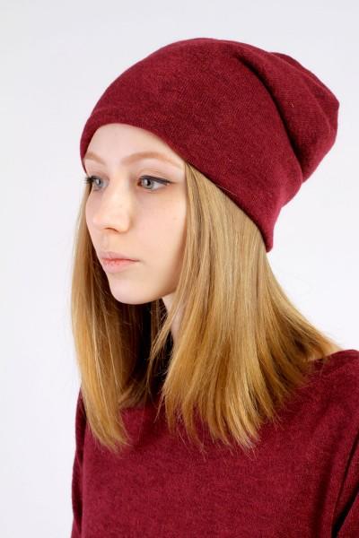 Шапка бордо, зимняя