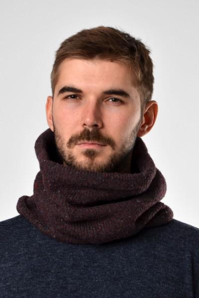 Шарф-горло коричневый