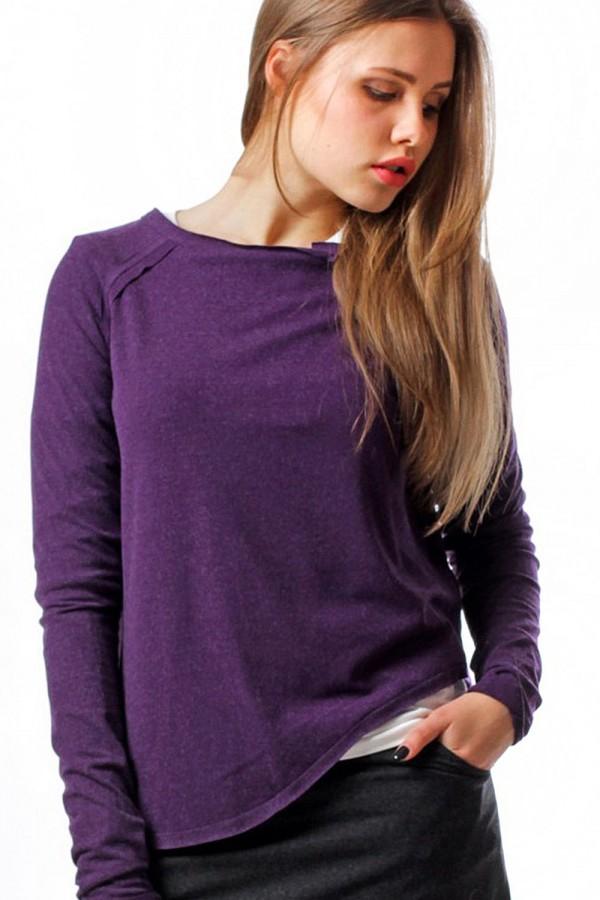 Асимметричный джемпер фиолетовый