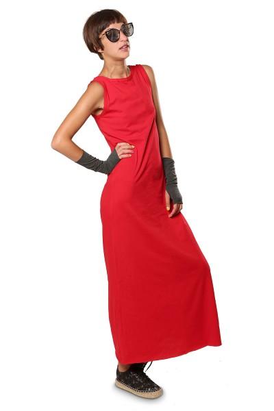 Платье в пол красное
