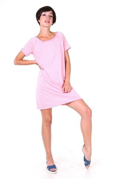 Платье-футболка розовое