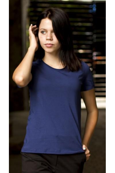 футболка синяя, женская