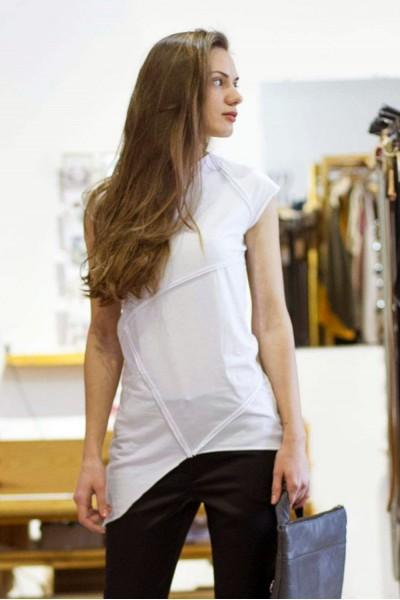 футболка грави белая, женская