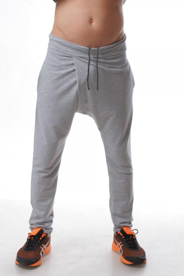 Штаны грави  unisex светло-серые, мужские
