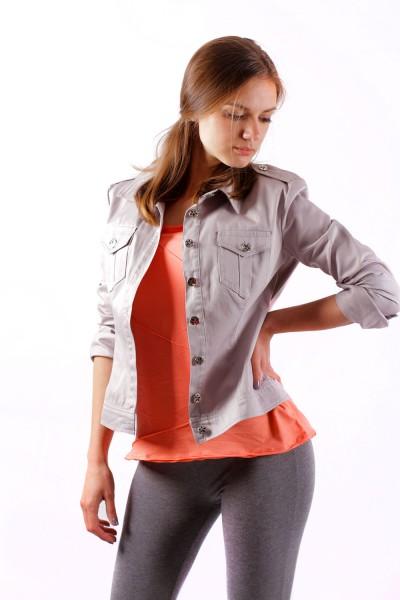 Куртка джинсовая светло-серая