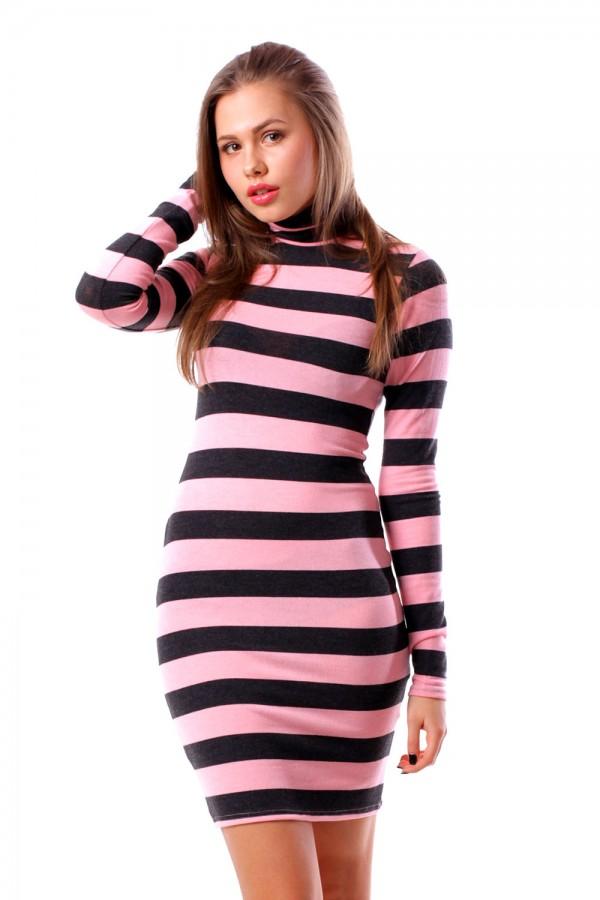 Платье скини розовое