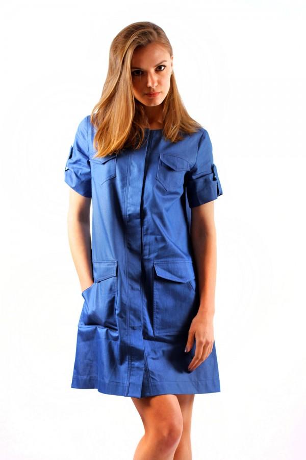 Платье Сафари синее