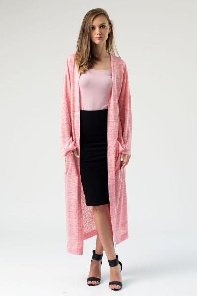 Кардиган трикотажный розовый