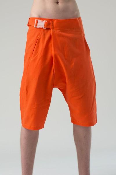Шорты грави с поясом, оранжевые, мужские