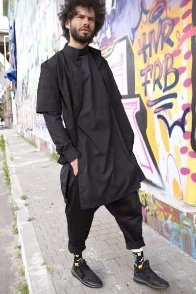 "Комплект ""брюки+туника+рубашка"" черный"
