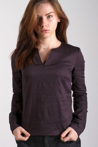 Блуза V-вырез, черная