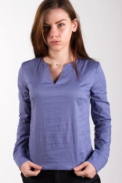 Блуза V-вырез, голубая