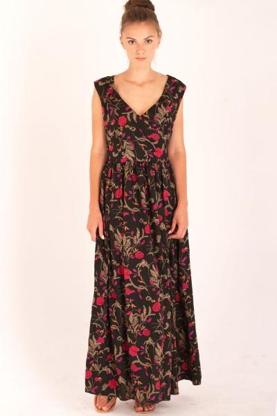 Платье Verao, макси, черное