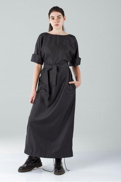 Греческое платье макси антрацит