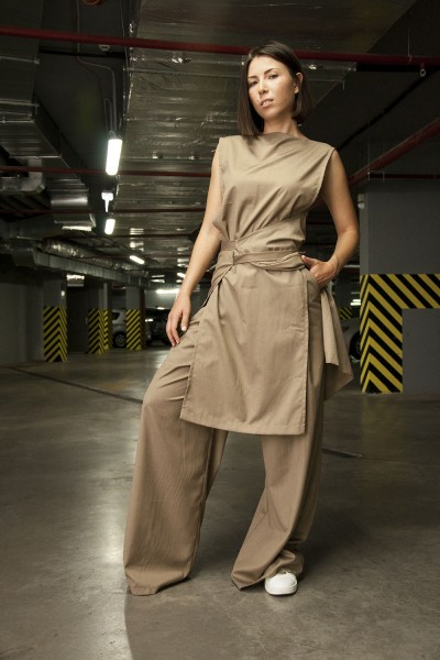 Комплект: брюки Agel + туника Romania, бежевый