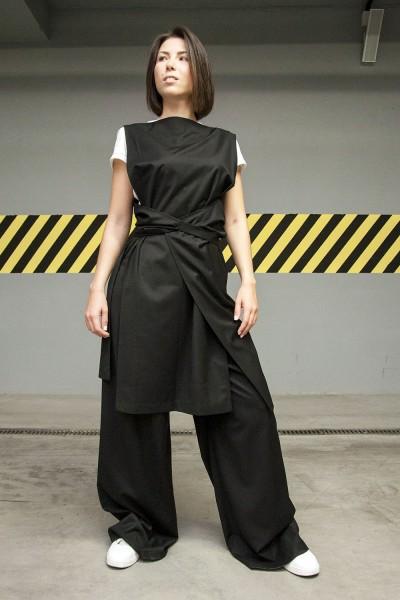Комплект: брюки Agel + туника Romania, черный