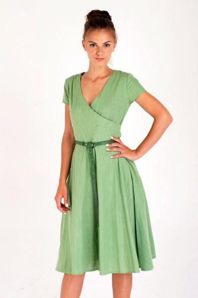 Платье Verao, зеленое