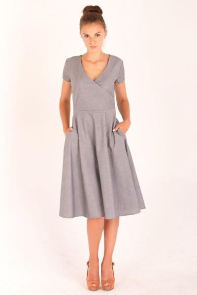 Платье Verao, миди серое