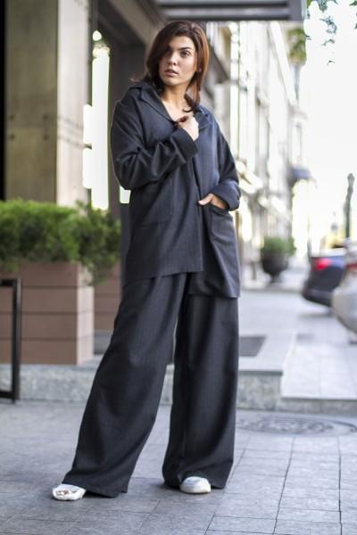 """Комплект """"брюки+пиджак"""" серый"""