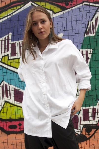рубашка белая, оверсайз