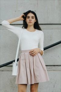 skirt sun mina pink