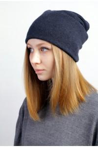 Winter navi blue beanie hat