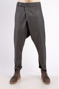 Pants with belt gravi, gray