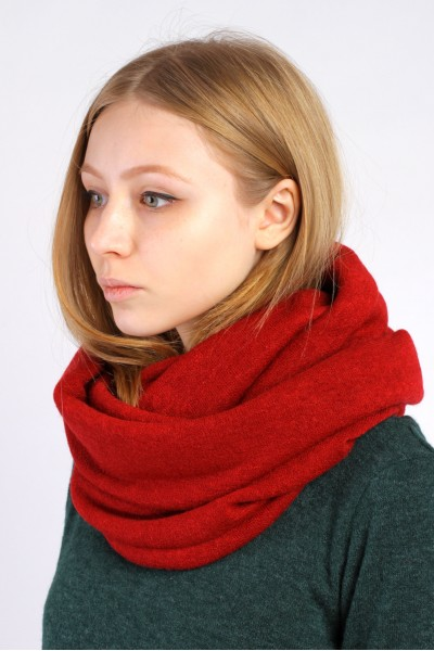 Scarf snood  red winter