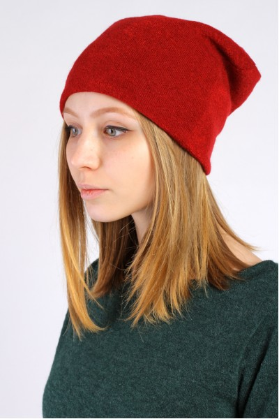 Winter red beanie hat