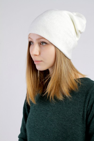 Winter milk beanie hat