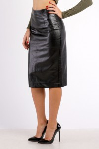 Pencil skirt with zipper gray