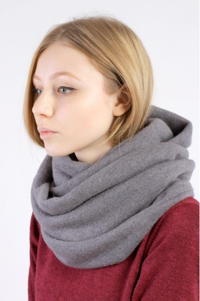 Scarf snood gray winter