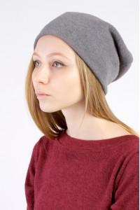 Winter grey beanie hat