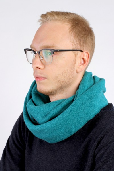 Scarf snood  turquoise winter