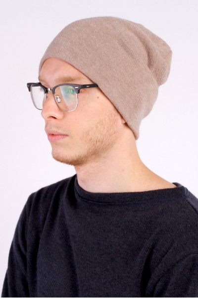 Winter beige beanie hat