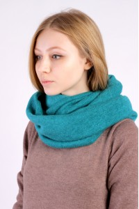 Scarf snood  azure winter