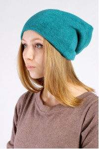 Winter azure beanie hat