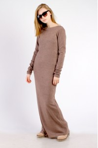 dress maxi brown