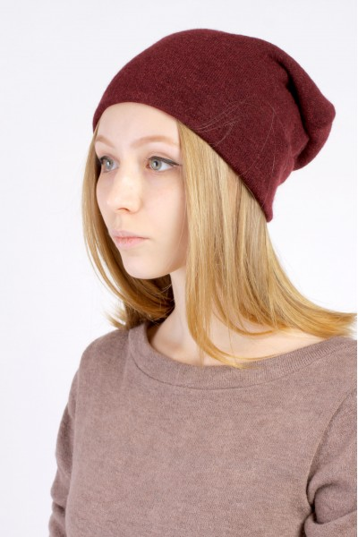 Winter bordo beanie hat