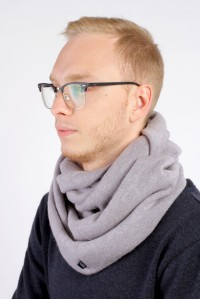 Scarf snood light gray winter