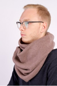 Scarf snood brown winter