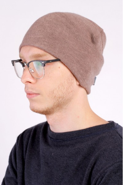 Winter brown beanie hat