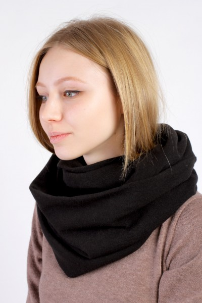 Scarf snood black winter