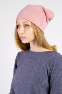 Winter  pink beanie hat
