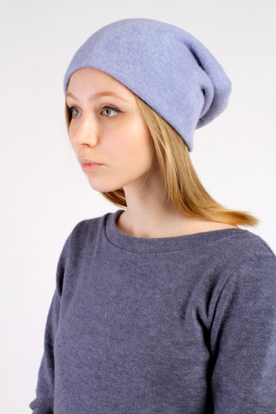 Winter blue beanie hat