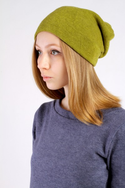 Winter  lime beanie hat