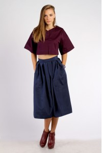 skirt sun navi blue