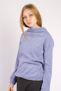 mini throat sweater blue